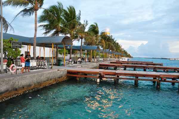 Maldives hotel doors