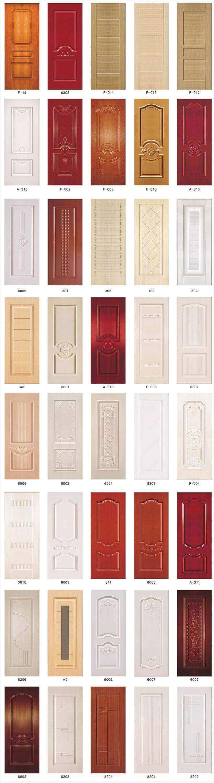 pvc wpc door skin design